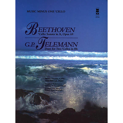 Music Minus One Beethoven - Cello Sonata in A, Op. 69; Telemann - Duet for Two Cellos in Bb Music Minus One BK/CD
