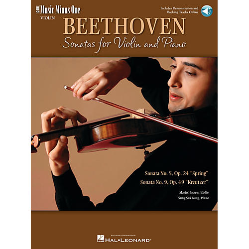 Music Minus One Beethoven - Two Sonatas for Violin and Piano Music Minus One Softcover with CD by Ludwig van Beethoven