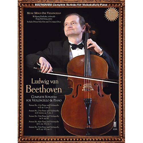 Music Minus One Beethoven: Complete Violoncello Sonatas Music Minus One Series Softcover with CD by Wolfgang Panhofer