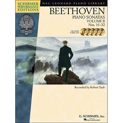 Hal Leonard Beethoven: Piano Sonatas Vol 2 - Schirmer Performance Edition CD's (Set of 5) By Beethoven / Taub