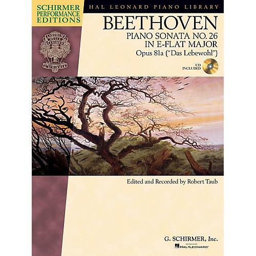 G. Schirmer Beethoven Sonata No 26 in E-flat Maj Op 81a (Das Lebewohl) Schirmer Performance Ed BK/CD Edited by Taub