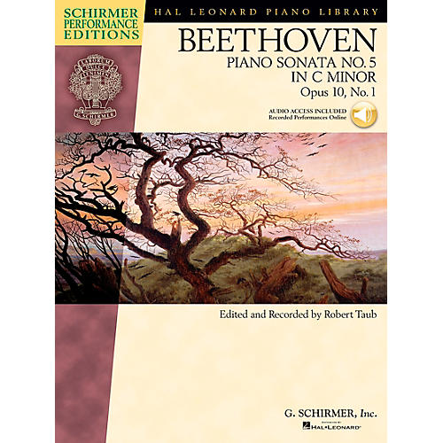 G. Schirmer Beethoven: Sonata No 5 in C Min Op 10 No 1 Schirmer Performance Edition BK/CD by Beethoven Edited by Taub