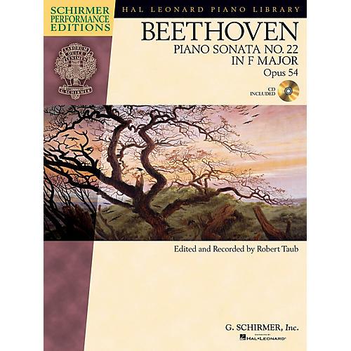G. Schirmer Beethoven: Sonata No. 22 in F Major, Opus 54 Schirmer Performance Edition BK/CD Edited by Taub