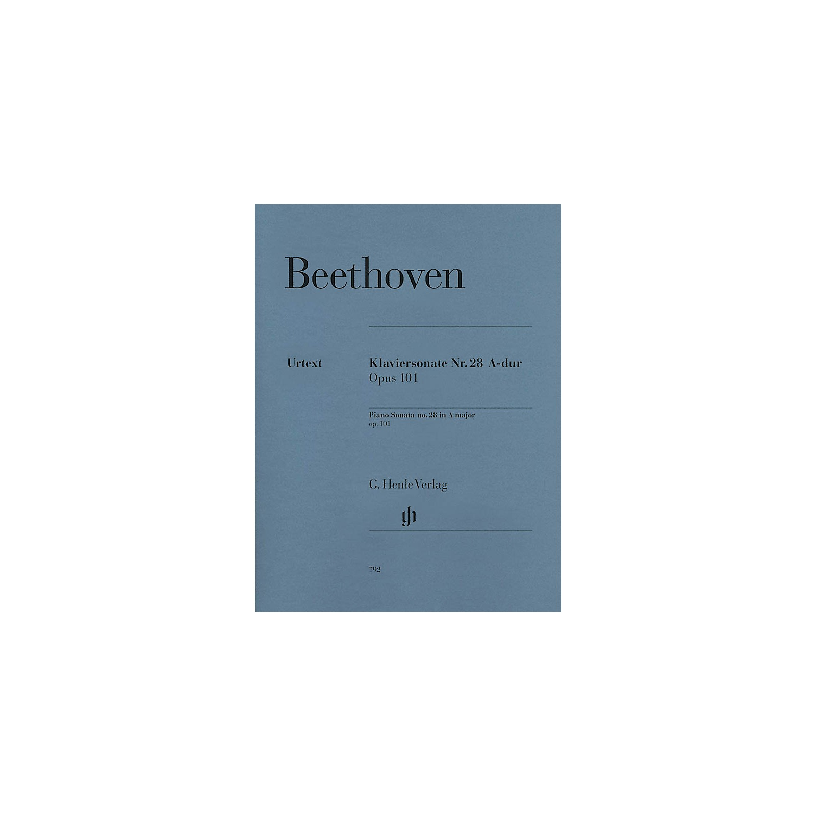 G. Henle Verlag Beethoven: Sonata No. 28 in A Major, Opus 101 (Revised Edition) Henle Music Folios Series Softcover