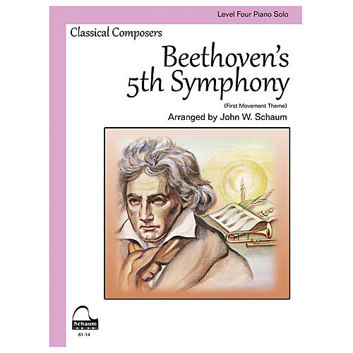 SCHAUM Beethoven's 5th Symphony Educational Piano Book by Ludwig van Beethoven (Level 4)