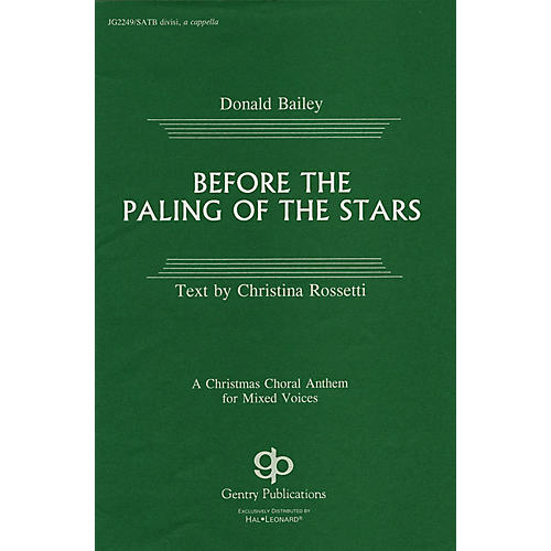 Fred Bock Music Before the Paling of the Stars SATB DV A Cappella composed by Donald Bailey