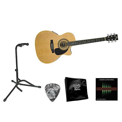 Rogue Beginner Acoustic-Electric Guitar Bundle