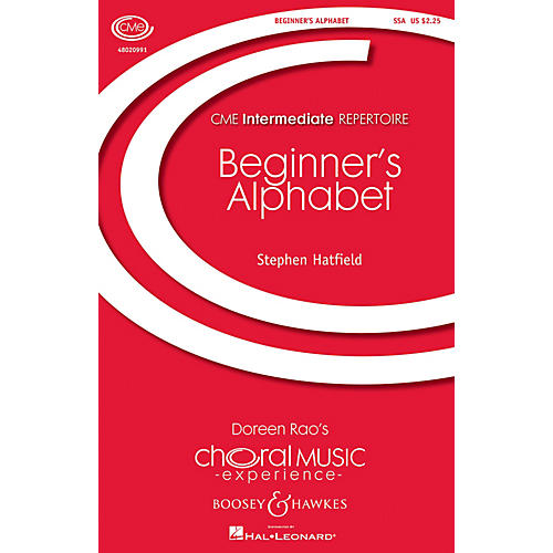 Boosey and Hawkes Beginner's Alphabet (CME Intermediate) SSA composed by Stephen Hatfield