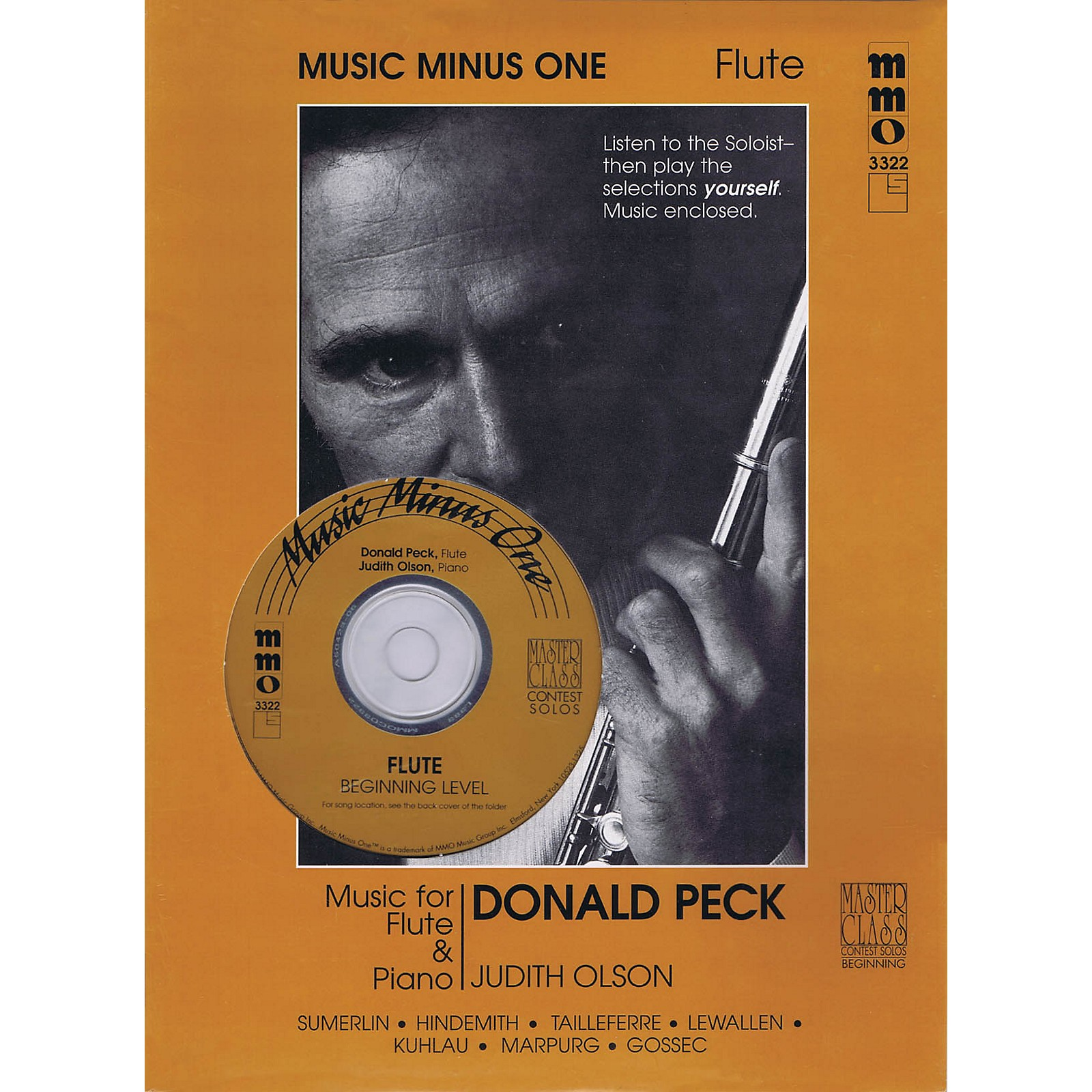 Music Minus One Beginning Flute Solos - Volume 2 Music Minus One Series Softcover with CD