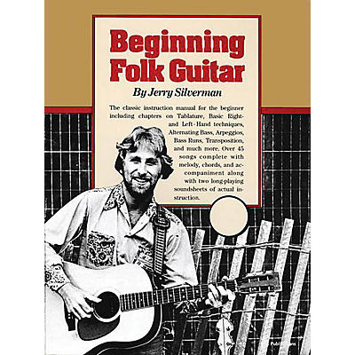 Oak Beginning Folk Guitar Music Sales America Series Softcover Written by Jerry Silverman