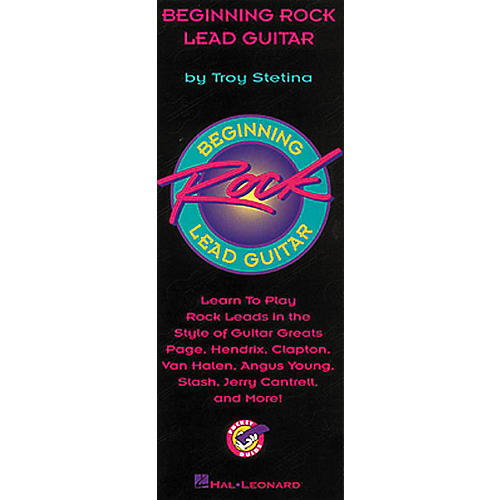 Hal Leonard Beginning Rock Lead Guitar Pocketguide Book