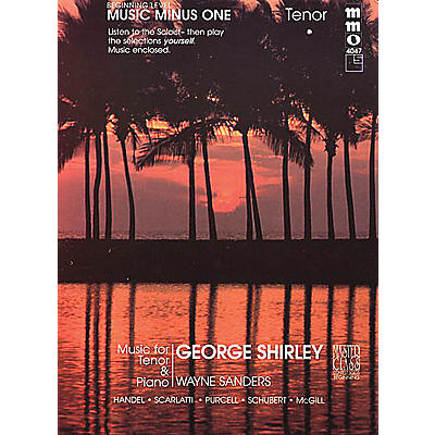 Music Minus One Beginning Tenor Solos Music Minus One Series Softcover with CD