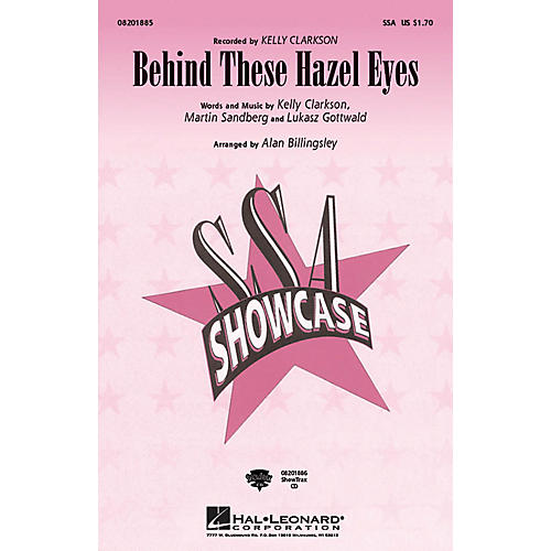 Hal Leonard Behind These Hazel Eyes ShowTrax CD by Kelly Clarkson Arranged by Alan Billingsley