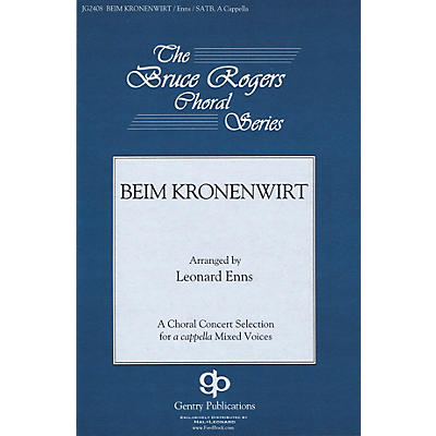 Fred Bock Music Beim Kronenwirt SATB a cappella arranged by Bruce Rogers