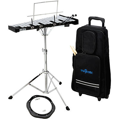 Majestic Bell and Practice Pad Kit With Rolling Cart