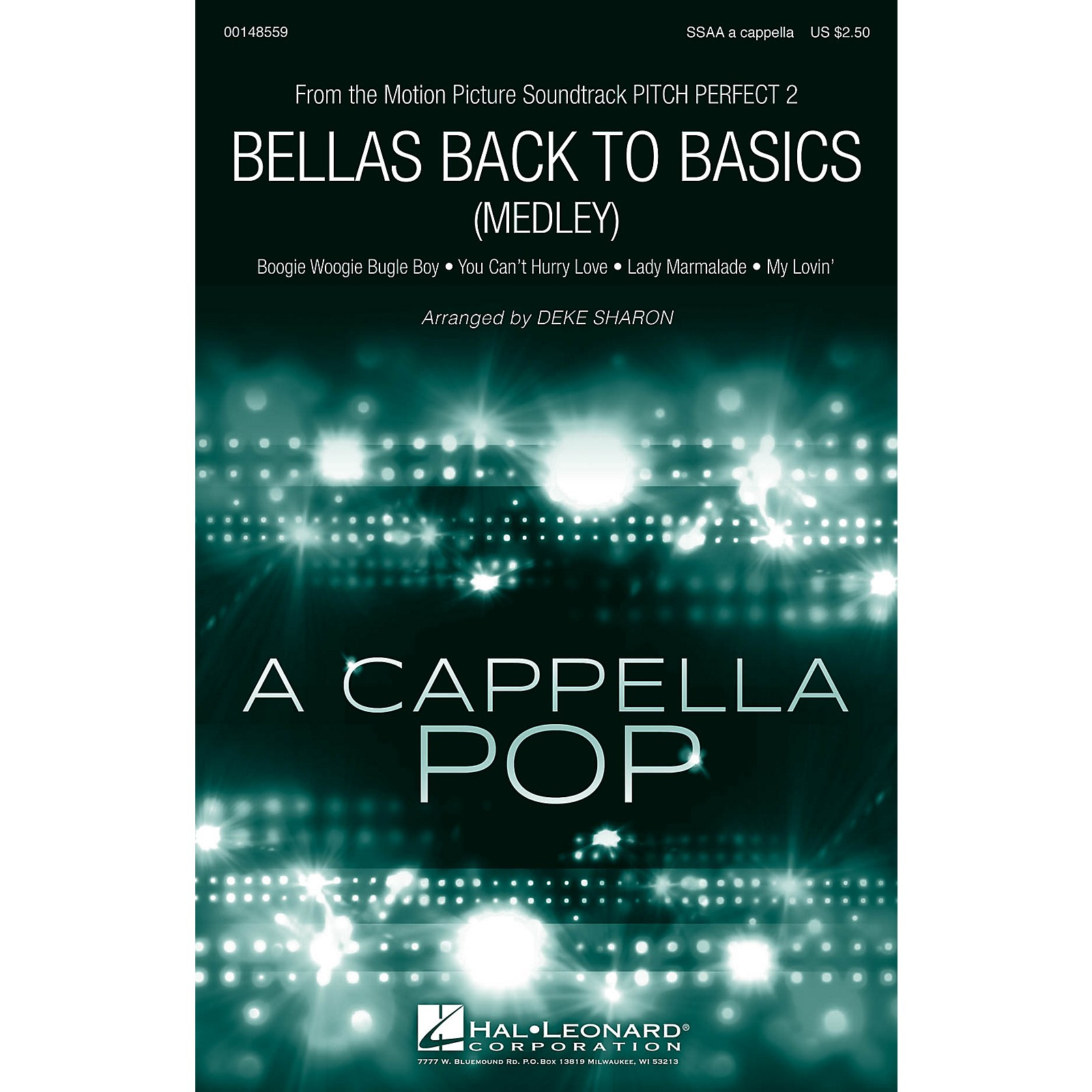 Hal Leonard Bellas Back to Basics (Medley) from Pitch Perfect 2 SSAA Div A Cappella arranged by Deke Sharon