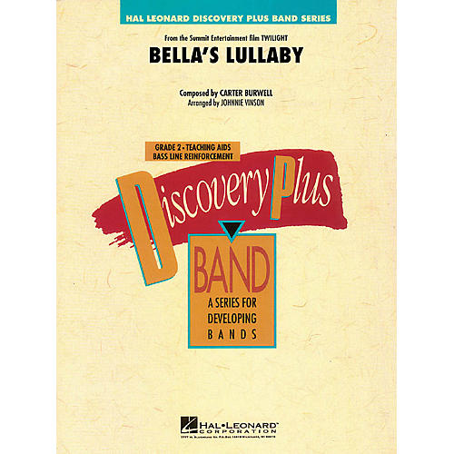 Hal Leonard Bella's Lullaby (from Twilight) - Discovery Plus Band Level 2 arranged by Johnnie Vinson