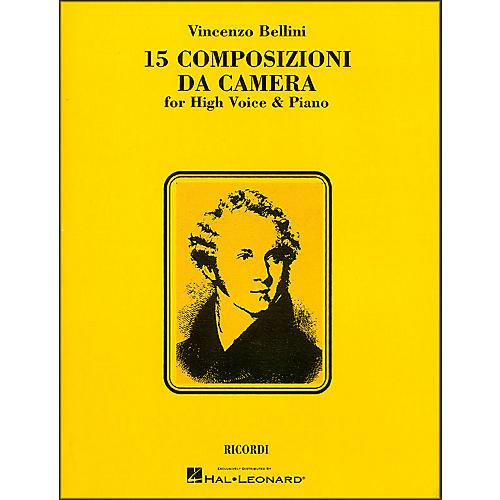 Hal Leonard Bellini - 15 Composizioni Da Camera for High Voice
