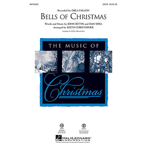 Hal Leonard Bells of Christmas SAB by Orla Fallon Arranged by Keith Christopher
