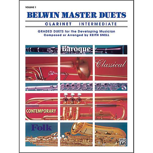 Alfred Belwin Master Duets (Clarinet) Intermediate Volume 1