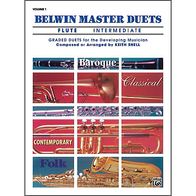 Alfred Belwin Master Duets (Flute) Intermediate Volume 1