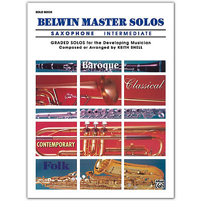Alfred Belwin Master Solos Volume 1 (Saxophone) Intermediate Solo Book Only
