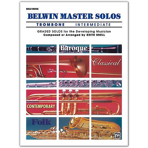 Alfred Belwin Master Solos Volume 1 (Trombone) Intermediate Solo Book Only