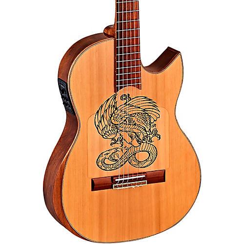 Ortega Ben Woods Flametal-One Signature Flamenco Acoustic-Electric Guitar