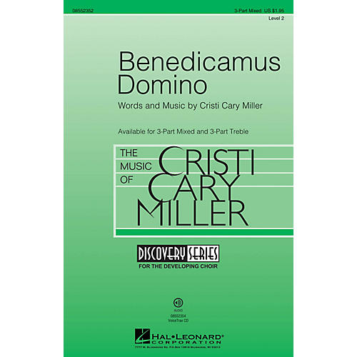 Hal Leonard Benedicamus Domino (Discovery Level 2) 3-Part Mixed composed by Cristi Cary Miller