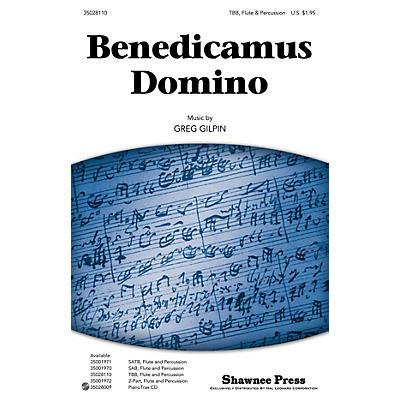 Shawnee Press Benedicamus Domino TBB composed by Greg Gilpin