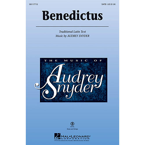 Hal Leonard Benedictus SSA Composed by Audrey Snyder