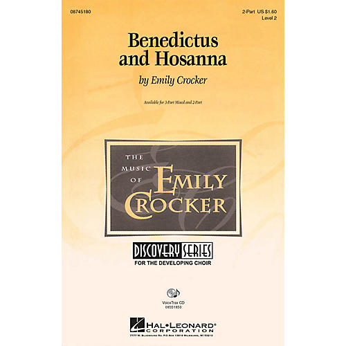 Hal Leonard Benedictus and Hosanna VoiceTrax CD Composed by Emily Crocker