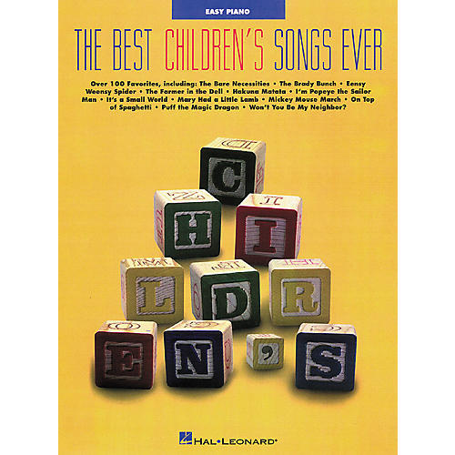 Hal Leonard Best Childrens Songs Ever Easy Piano Songbook