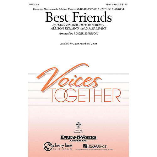 Hal Leonard Best Friends (from Madagascar 2: Escape 2 Africa) ShowTrax CD by will.i.am Arranged by Roger Emerson