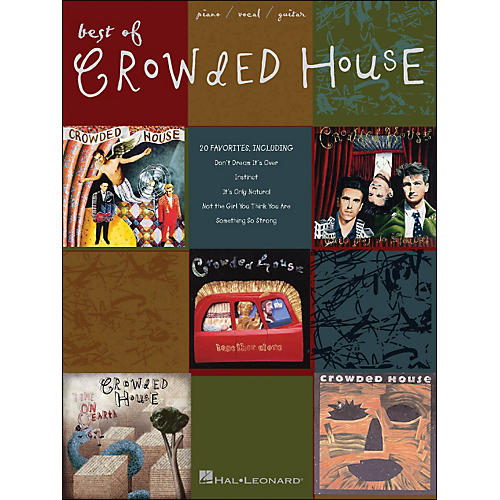 Hal Leonard Best Of Crowded House arranged for piano, vocal, and guitar (P/V/G)