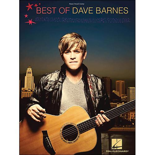 Hal Leonard Best Of Dave Barnes PVG