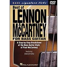 Hal Leonard Best Of Lennon & McCartney for Bass Guitar Signature Licks DVD