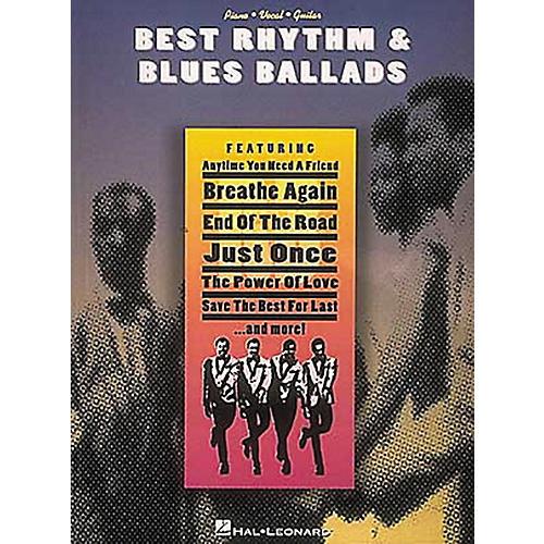 Hal Leonard Best Rhythm & Blues Ballads Piano, Vocal, Guitar Songbook
