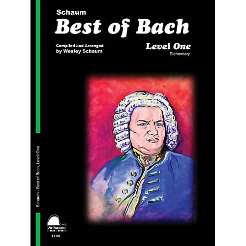 SCHAUM Best of Bach (Level 1 Elem Level) Educational Piano Book by Johann Sebastian Bach