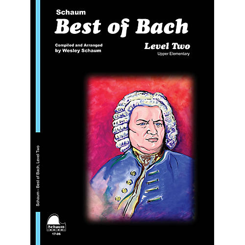 SCHAUM Best of Bach (Level 2 Upper Elem Level) Educational Piano Book by Johann Sebastian Bach