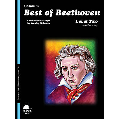 SCHAUM Best of Beethoven Educational Piano Book by Ludwig van Beethoven (Level Late Elem)