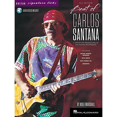 Hal Leonard Best of Carlos Santana - Signature Licks - 2nd Edition BK/Audio Online by Wolf Marshall