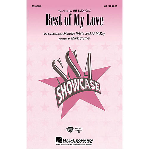 Hal Leonard Best of My Love ShowTrax CD by The Emotions Arranged by Mark Brymer