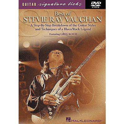 Hal Leonard Best of Stevie Ray Vaughan Signature Licks (DVD)