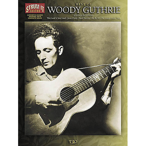 Hal Leonard Best of Woody Guthrie Strum it Guitar Book