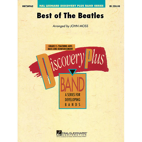 Hal Leonard Best of the Beatles - Discovery Plus Concert Band Series Level 2 arranged by John Moss