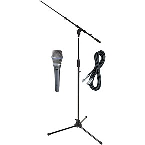 shure beta 87c hh condenser mic with cable and stand musician 39 s friend. Black Bedroom Furniture Sets. Home Design Ideas