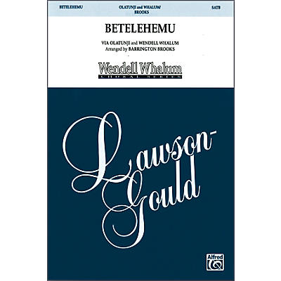 Alfred Betelehemu SATB Choral Octavo