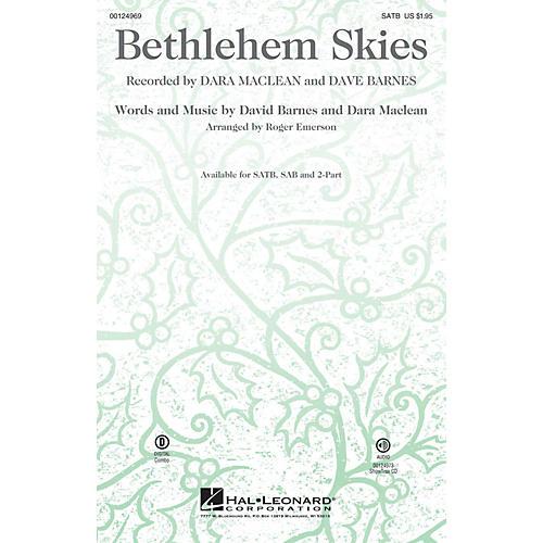 Hal Leonard Bethlehem Skies SAB Arranged by Roger Emerson