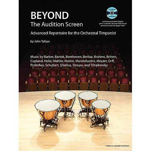 Hal Leonard Beyond the Audition Screen Percussion Series Softcover with CD Written by John Tafoya